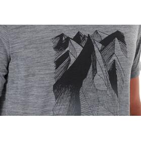 Icebreaker M's Tech Lite Geometry of Geology SS Crewe Shirt Gritstone Heather
